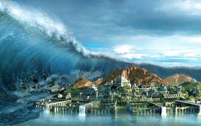 El diluvio universal o hundimiento de la Atlantida